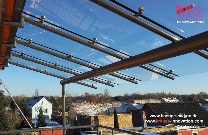 Beliebt Design Haenge-Balkon mit Ueberdachung aus Glas direkt vom KQ75
