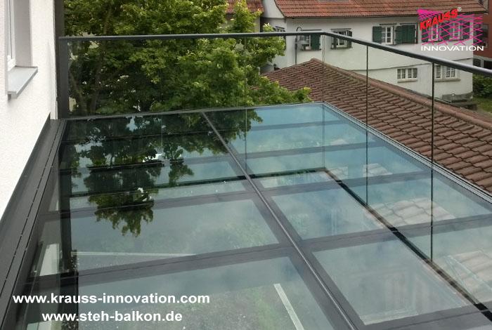Steh Balkon Mit Glasbelag Und Glasgelaender Direkt Vom Hersteller