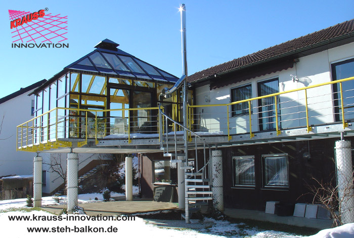 Ein Stehbalkon Aus Stahl Und Glas Krauss Gmbh Krauss Innovation